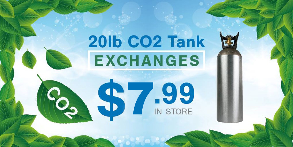 In-store CO2 Exchanges $7.99