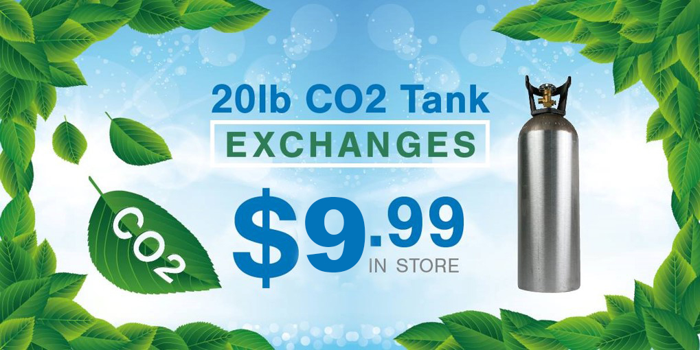 In-store 20 pound CO2 Tank Exchanges $9.99
